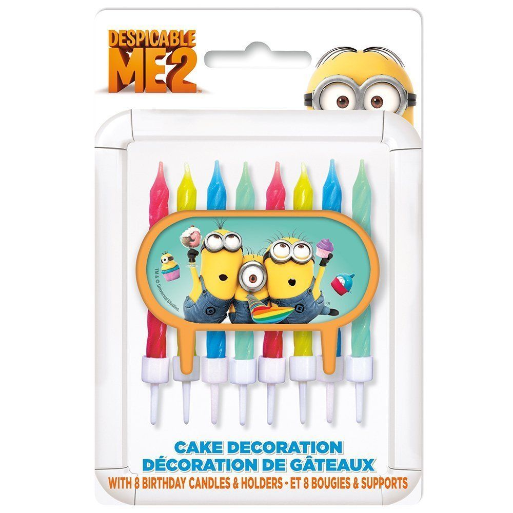 Primary image for Despicable Me Cake Topper & Birthday Candle Set (2 Pack) 16 Candles!