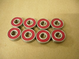 (SET OF 8) SKATEBOARD BEARINGS 608-2RS ABEC 5 - $6.99