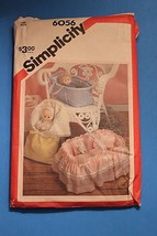 Vintage Sewing Pattern 6056 Doll Carrier & Bunting up to 18 American Girl - $11.63