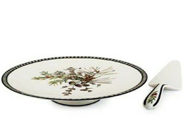 Lenox Etchings Footed Round Cake Plate & Server 2 PC Set $115 New - $61.90