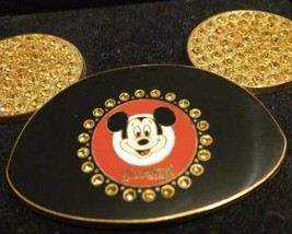 "Rare PIN Disneyland Resort Mickey Mouse Ears Face Yellow Jeweled Walt Disney 4"" - $54.40"