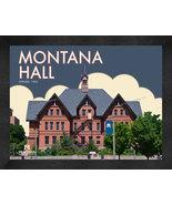 "Montana State ""Montana Hall"" 13 x 16 Art Deco Framed Print  - $39.95"
