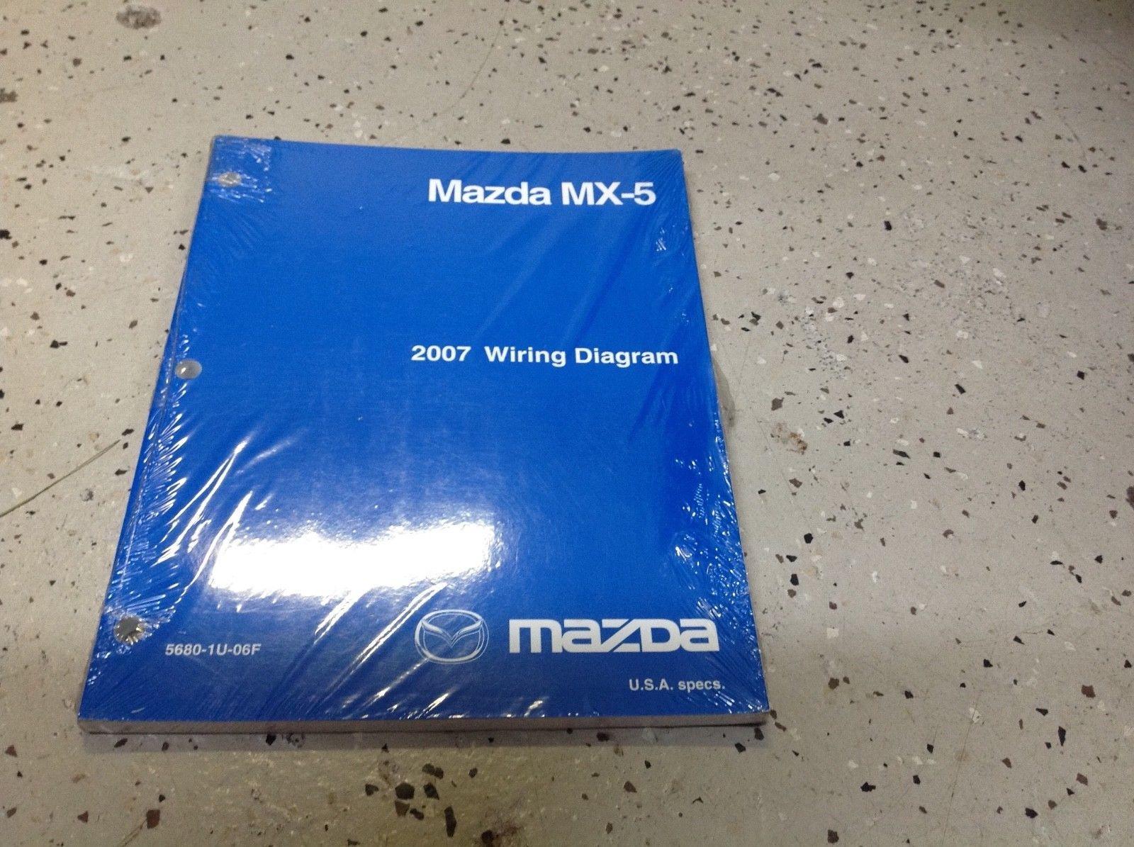 2007 mazda mx-5 mx5 miata electrical wiring diagram troubleshooting manual  ewd