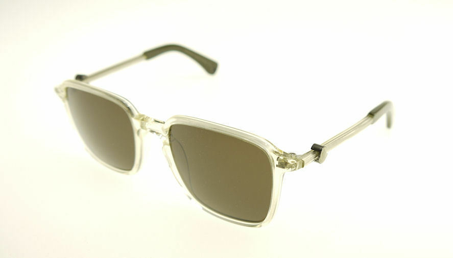 MONCLER MC017-S04 Yellow Clear / Green Sunglasses MC 017S-04
