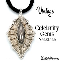 Celebrity Gems Vintage Faux Hematite Necklace with Gothic Style - $19.00