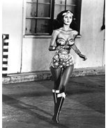 Wonder Woman B&W Graph Lynda Carter Running 16x20 Canvas Giclee - $69.99