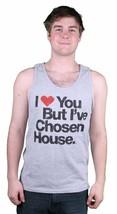Mens I Love You But I've Chosen House Music Grey Tank Top Halter Muscle Shirt