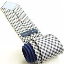 NEW TOMMY HILFIGER 59L Navy Blue White Checkered Silk Mens Neck Tie - $34.64