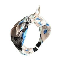 Beige Floral Prints, Bow Headband and Broadside Designed