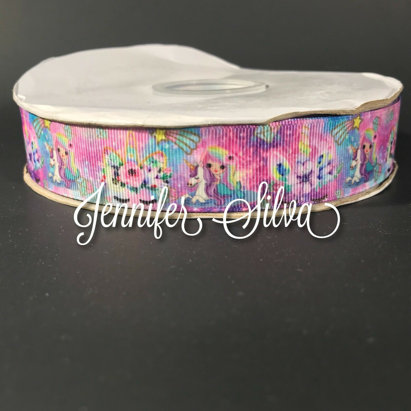 "1"" Unicorn and Mermaid  Cheer Bow Ribbon"
