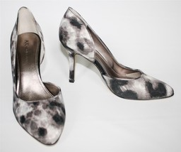 Womens Shoes Anne Klein ZYA d'Orsay Classy Pumps Heels Ginger Snake Satin Fabric - $53.99
