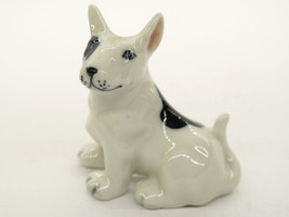 Mini Collectible Ceramic Bull Terrier Dog Breed FIGURINE Handicraft - $4.46
