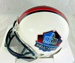 BART STARR / NFL HALL OF FAME / AUTOGRAPHED HALL OF FAME LOGO MINI HELMET / COA image 3