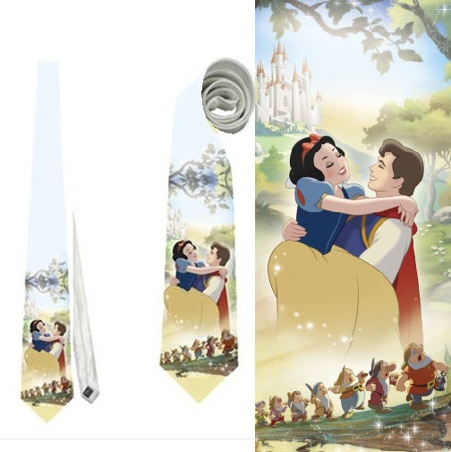 Primary image for Necktie tie princess prince white snow dwarfs