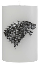 Game of Thrones TV Series House Stark Sculpted Sigil Pillar Candle NEW U... - $29.02