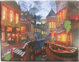 Cross Stitch Needlepoint Kit Venice Nights at Christmas Time APT Hobby P... - $22.72