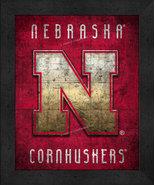 "Nebraska Cornhuskers ""Retro College Logo Map"" 13x16 Framed Print  - $39.95"