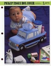 Pickup Truck Tissue Box Cover Annie's Plastic Canvas Pattern - 30 Days T... - $8.97
