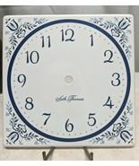 """Seth Thomas Enameled Clock Dial Blue & White 6"""" X 6"""" NOS - $9.89"""