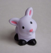 Little People White Black Pink BUNNY RABBIT Pet Shop Farm Barn Ark Zoo E... - $7.84