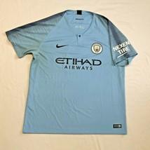 Nike FC Manchester City 2018-2019 Home Blue Soccer Jersey Men's Size XL  - $39.99