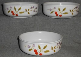 1970s Set (3) Noritake BERRIES 'N SUCH PATTERN Cereal or Soup Bowls - $39.59