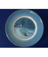 Avon Bringing Home the Tree Christmas Plate 1976 by Wedgewood, with box - $6.99