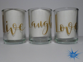 Set of 3 Personalized Clear Glass Votive Holders. *With Free Tealight Candles*  - $5.00