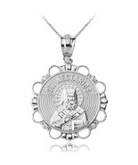 Sterling Silver Saint Nectarios CZ Medallion Pendant Necklace - $19.99+