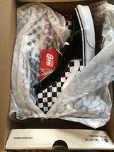 NEW Vans x David Bowie Sk8 Hi Chex Skate Shoe Black White Red Diamond Dogs DB 10 - $135.56