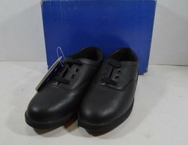 Vintage 90s New Keds Womens 6 Champion Walker Leather Lace Up Shoes Black - $38.56