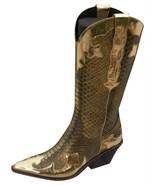 Donald Pliner Western Metalic Pitone Snake Leather Boot Shoe New Signature $695 - $278.00