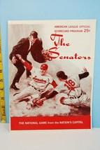 1968 Washington Senators v New York Yankees Baseball Scorecard in Washin... - $31.68