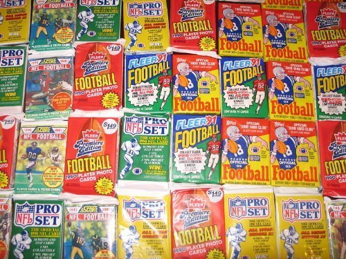 Primary image for Huge Lot of 2000 OLD Unopened NFL Football Cards in Sealed Packs!!