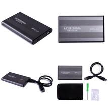 External Hard Drive 500 Gb Usb 3.0 Aluminum Encased Portable Backup File... - $12.21