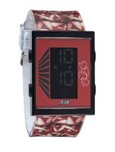 Yonehara Yasumasa X Flud Rosso LCD Digitale Cartuccia Orologio Donna Gambe Nuovo