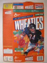 Empty Wheaties Box 1997 18oz Le Roy Neiman Painting Walter Payton [Z202a7] - $7.17