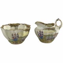 Vintage Royal Paragon Garden Gate Creamer & Sugar Set Bone China England... - $32.41