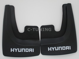 Universal car mud flaps with HYUNDAY logos rear or front 3D custom snow ... - £22.80 GBP