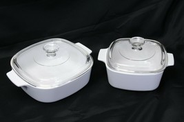Corning Winter White 2 liter and 1.5 liter with lids Casseroles - $39.19
