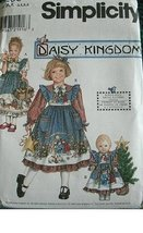 Simplicity Daisy Kingdom Pattern 8236 Girls' Dress and Pinafore and Dress for 18 - $12.82