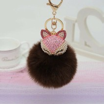 Purse Charm Keychain New With Tags Mocha - $10.39