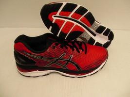 Asics gel nimbus 18 running shoes racing red black silver size 11 men us... - $158.35