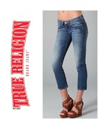 TRUE RELIGION Lizzy Crop Stretch Low Rise Jeans 2355 Womens Size 26 - $36.34