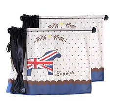Set of 2 Summer Car Curtains Sunshades Sucker Type Double Sunshades, Horse