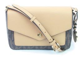 MICHAEL KORS GREENWICH Saffiano-Leder Schultertasche kleine Handtasche b... - $167.56