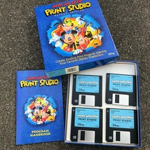 """Mickey And Crew Print Studio Deluxe Edition PC 3.5"""" Floppy Disney Window... - $7.73"""