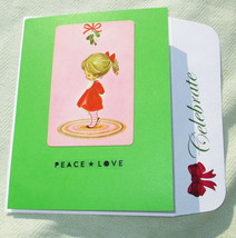 Handmade Mistletoe Holiday Handmade Greeting Card - $4.20