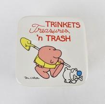 Vintage 80's Ziggy & Fuzz Porcelain Trinket Box Tom Wilson Comic Strip J... - $24.70