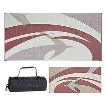 Reversible Mats Outdoor Patio / RV Camping Mat - Swirl (9 feet x 18 feet... - $94.94